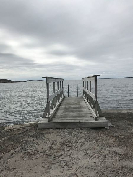 Sky Water Cloud - Sky Sea Beach Tranquility Tranquil Scene Land Scenics - Nature No People Wood - Material Day Nature Beauty In Nature Pier The Way Forward Horizon Horizon Over Water Sand Outdoors A New Beginning