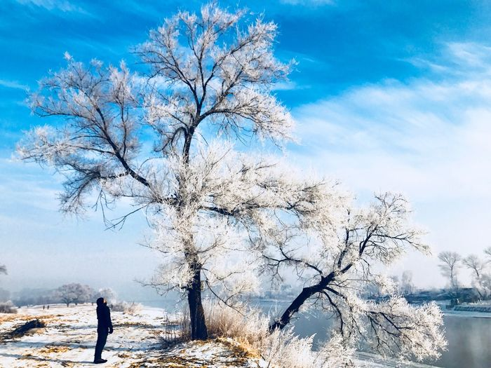 White Dream Surrealism China Sky Nature Real People Scenics - Nature Snow Cold Temperature Tranquil Scene Outdoors First Eyeem Photo