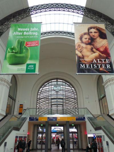 Architecture Architektur Bahnhof Built Structure Dresden Dresden Hauptbahnhof Hauptbahnhof Indoors  Railwaystation Station Train Station