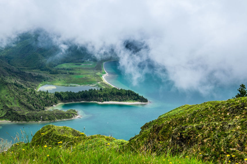 View to Lagoa do Fogo in S. Miguel Island, Azores, Portugal Azores Azores, S. Miguel Great Outdoors Great Views Lagoa Do Fogo Lake Lake View Landscape Landscape_Collection Landscape_photography The Great Outdoors - 2017 EyeEm Awards Lost In The Landscape