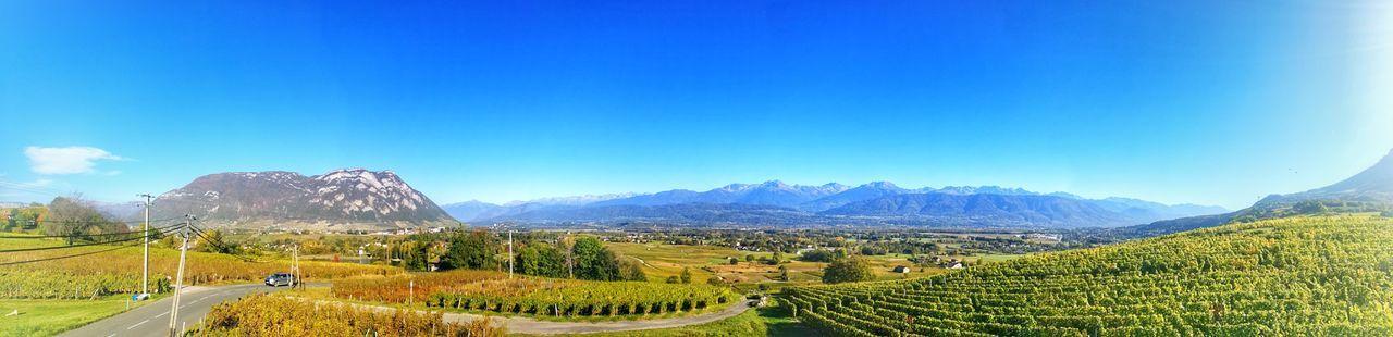 Mountain Landscape Beauty In Nature Scenics Wine Savoie