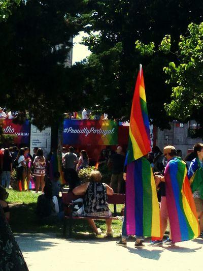 LGBT Parade Lgbt Pride LGBTQ Rights LGBT Rainbows Lgbt Flag Lgbt Family Lgbt Love Is Love City Multi Colored Tree Flag Sky Festival