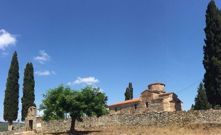 """1111 a.c. Byzantine church basilica style with cross-domed """"Panagia tou Bryoni"""" nofiterneeded noediting breathtaking greece best destination"""