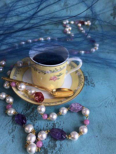 Jewelry coffee. Oscar De La Renta Vintage Jewelry Old-fashioned Limoges Fashion Photography Food And Drink Coffee