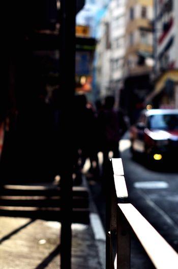 Focus on Walk Need Street Who Trip