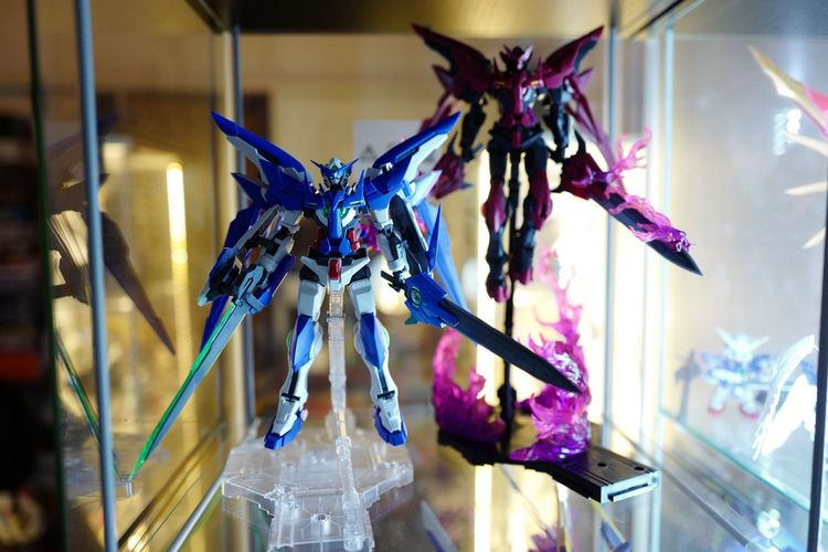Light & Darkness Gunpla Exia Gundam 00 Toy Toy Photography Toys BANDAI Gundam Build Fighter