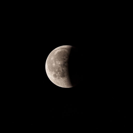 Half Moon Eclipsed Lunar Eclipse Astrology Astronomy Beauty In Nature Dark Eclipse Moon Moon Surface Nature Night Planetary Moon Sky Space