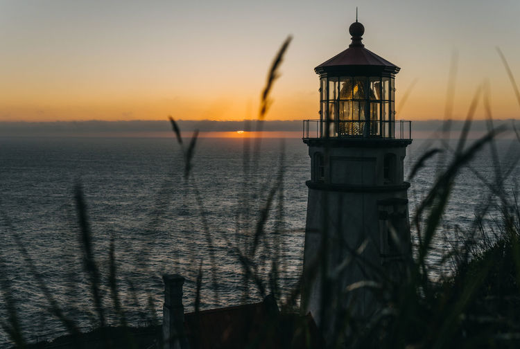 Sunset Sky Water Scenics - Nature Architecture Lighthouse Outdoors Idyllic Sea Tranquility Nature