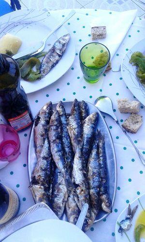Sardinhas! Fish Food Porn Taking Photos ✌😁👍Food Photography Fish Food Eyem Best Shots Eyem Porto Sardinia Sardinhas