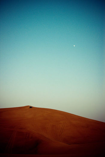 Clear Sky Dessert Jeep Moon Moon Of Rise No People Outdoors Safari First Eyeem Photo