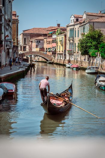 Venedig Venice Gondel Canal Architecture Gondola - Traditional Boat Tourism Mode Of Transport Outdoors Water Italy 50mm Place Of Heart
