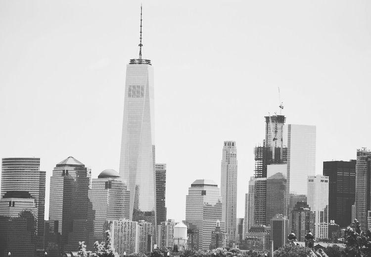 Just a simple picture of NYC from the Statue of Liberty Park. Taking Photos