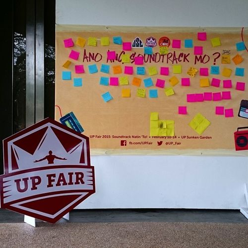Meanwhile in UP Diliman... FebFair2015 is in the air . . . UPfair SoundtrackNatinTo
