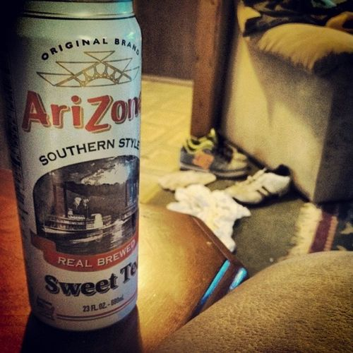 I love this tea Arizona Sweet Tea Icantbelieveitsnotbutter happiness life