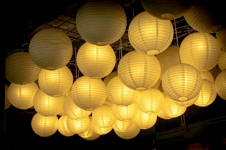 Art Background Bright Bulb Color Colorful Concept Decor Decoration Decorative Design Hanging Interior Isolated Lamp Lamps Lantern Lanterns Light Marquee Modern Orange Ornament Paper Pattern Round Sphere Vintage White Yellow