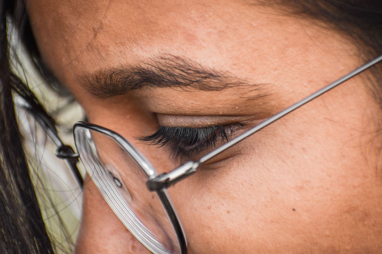 Close-up of a woman