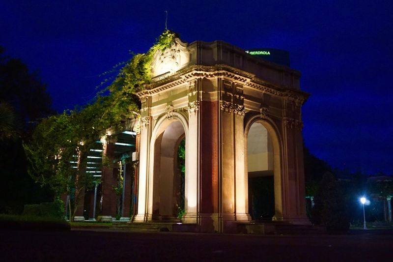 Architecture Building Exterior Built Structure Illuminated Tree Night Outdoors No People Sky City Clock Triumphal Arch Streetphotography Street City Cityscape Travel Nightphotography Night Lights Still Life Urban Landscape Urban Exploration Colorful Traveling Architecture