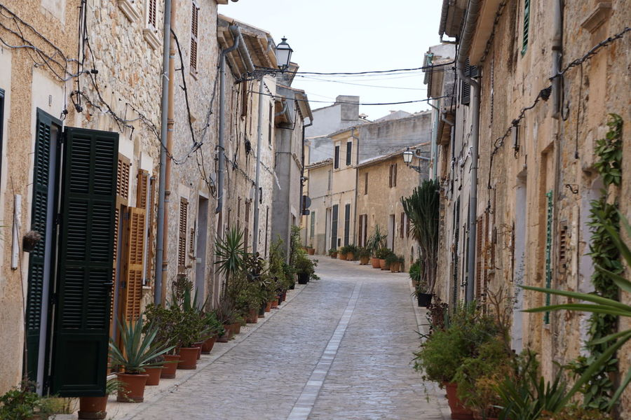 Architecture Building Exterior Built Structure Day Long Mallorca Narrow No People Old Town Outdoors Petra Street The Way Forward
