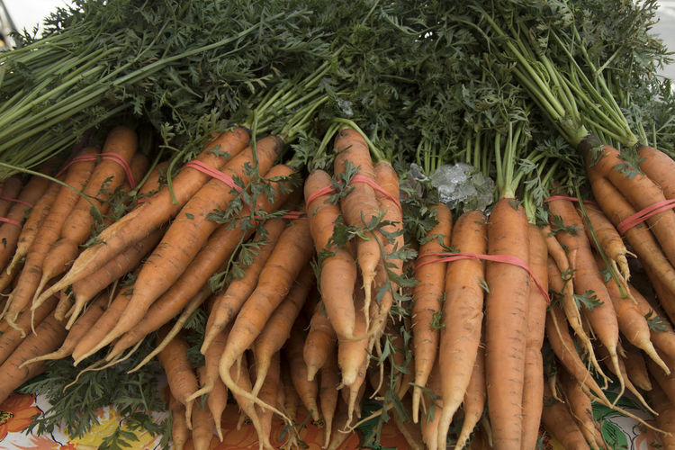 Close-up of fresh vegetables in market