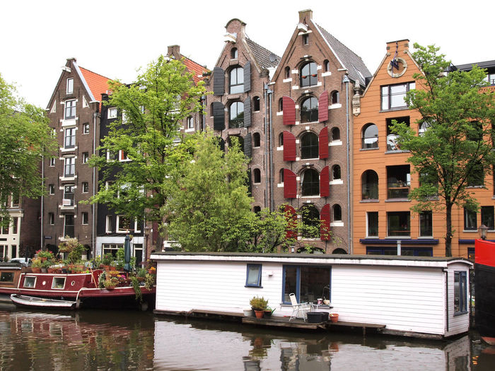 Amsterdam Architecture Boat Buildings Canal City Dutch Europe European  Gracht Holland House Boat Merchant's Houses Netherlands No People Residential Building Residential District River Street Town Travel