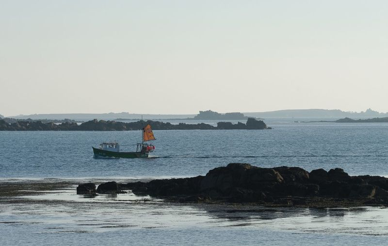 heading home, Transportation Water Nautical Vessel Sea Boat Mode Of Transport Tranquil Scene Non-urban Scene Fishing Island Isles Of Scilly