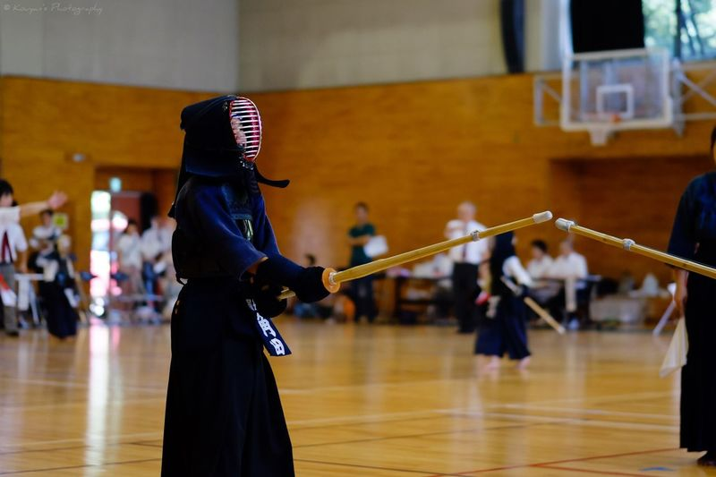 My Daughter Kendo Match Game Starting The Game Here We Go! Fujifilm_xseries FUJIFILM X-T1 XF 56mm F1.2 APD