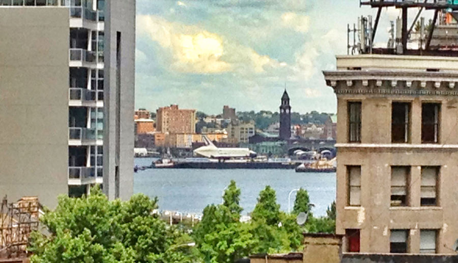 Enterprise Takes A Ride Up The Hudson