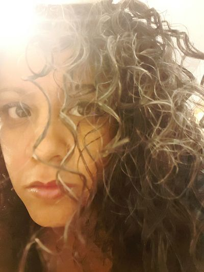 Saltandpepper Curlsfordays Messy Hair Dont Care Indoors  Adult Close-up Eye Eyes Curly Hair Gray Hair