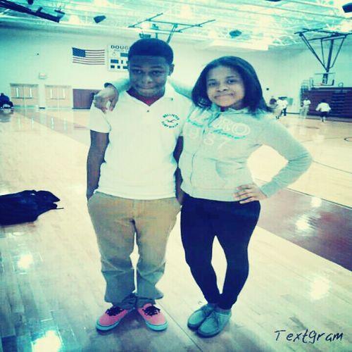 me and koree at school last week