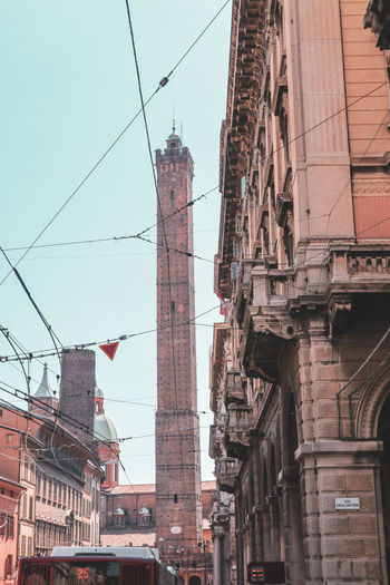 Bologna towers EyeEm Selects City Clear Sky Sky Architecture Building Exterior Built Structure Power Line  Electricity Tower Wire Electricity  Telephone Pole Power Supply Power Cable Cable