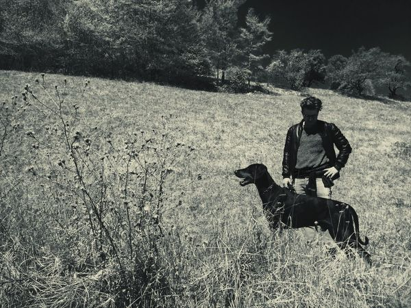 Dobermann And Me My Dog My Dog Is Cooler Than Your Kid. Nature Photography Monochrome Landscape Alto Adige Monochrome Photography