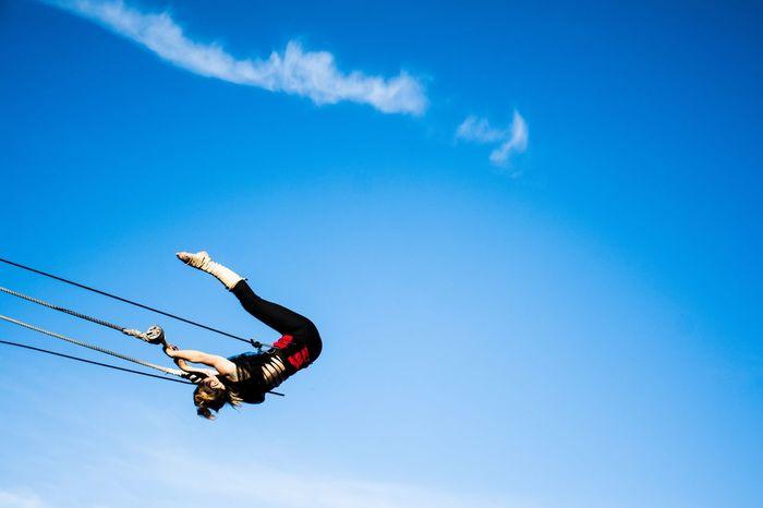 Enjoy Entertainment Art Exhibition Acrobatic Activity Acrobat Fly Peace Sky Blue Sport Adventure