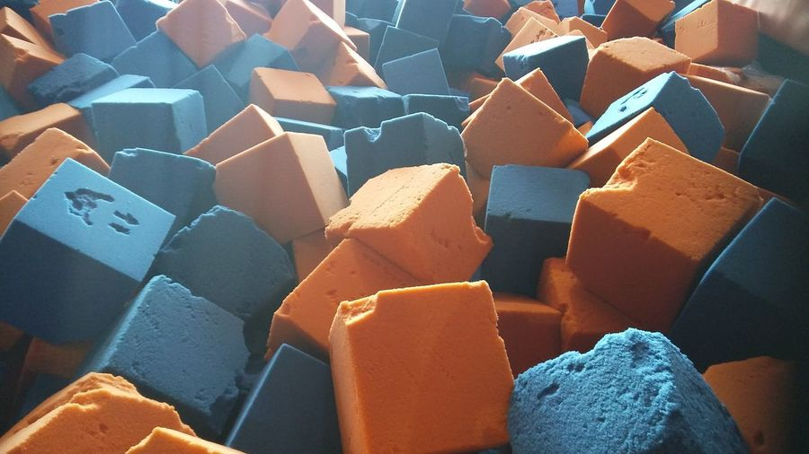 blocks Play Games BOUNCE Once Photo Blue Orange Color Kids EyeEm Selects Stack No People Full Frame Food Industry Indoors  Day Close-up