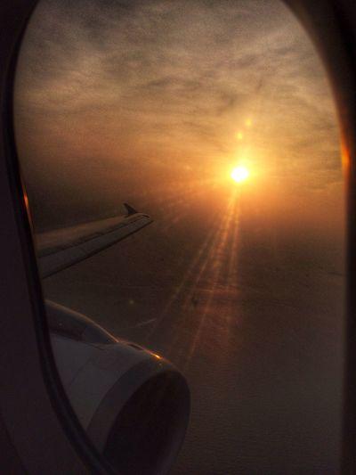 Thank you and goodbye Cebu Eyeem Philippines From An Airplane Window Sunset Bye Bye