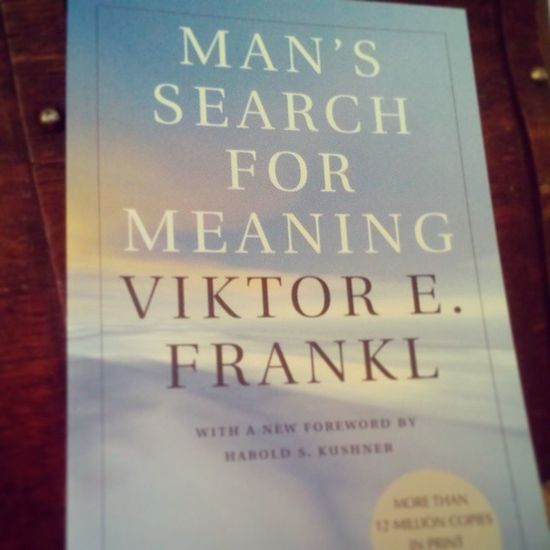 """The new book for the week. A Man's Search For Meaning by Viktor E Frankl. My best friend @kellieconrow once said """"If you can't find Sarah she's over in the corner reading."""" :) love you. I encourage all those around me and those I personally have not met to embrace the beauty of an incredible book and immerse yourself in it. Book Bookworm Greatreads Paperback whattoread inspirational sundayreading study cozy rest comfortable life live selfgrowth"""