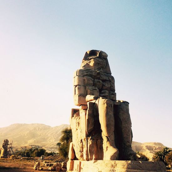 Egypt Luxor Temple Clear Sky Sunshine Travel Destinations Architecture Pharahos Statue Day Amazing Amazing Architecture View Point Wonderful Happy Old Ruin