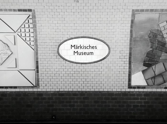 Day 301 - Märkisches Museum Berlin Blackandwhite Public Transportation Minimalism Ubahn 365florianmski 365project Day301