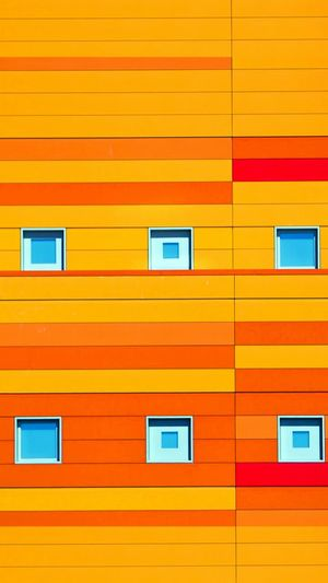 Apartement Bulding Orange Colour Villa Panasonic  EyeEm Best Shots EyeEm 2018 EyeEm Building Eyeem Buldings Art 10 Multi Colored Technology Backgrounds Yellow Full Frame Pattern Red Abstract Textured  Building Exterior