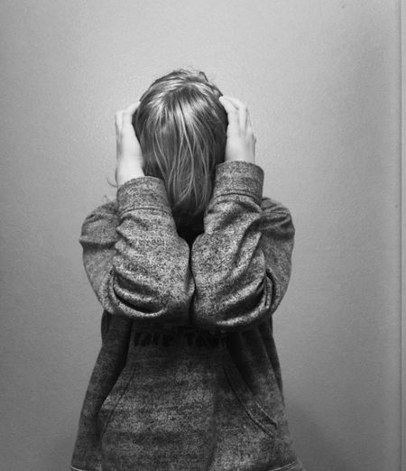Emotional Stress Depression - Sadness Distraught  Indoors  Young Adult Portrait Girl Black & White My Daughter ❤️ Art The Portraitist - 2017 EyeEm Awards
