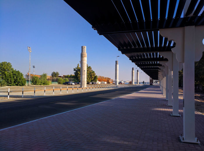 View of built structure against clear sky