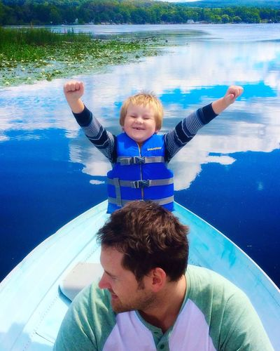 Water Boys Lake Happy Cheerful Fun Smiling Missing Tooth Vacation Boatinglife Joy Childhood Lakeview