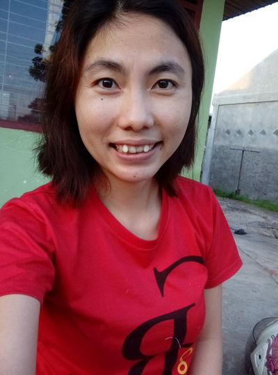 Smile❤ Senyumindonesia Hello World Enjoying Life Riau Indonesia Red Shirt Short Hair