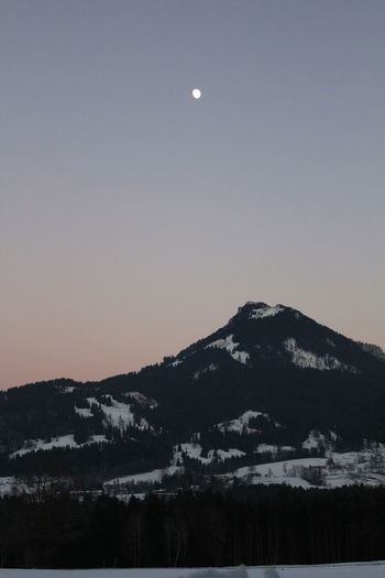 Bavaria Trees Bavarian Alps Beauty In Nature Bluesky Canonphotography Cold Temperature Fischbachau Full Moon Homesweethome Landscape Moon Mountain Night No People Outdoors Sky Snow Winter