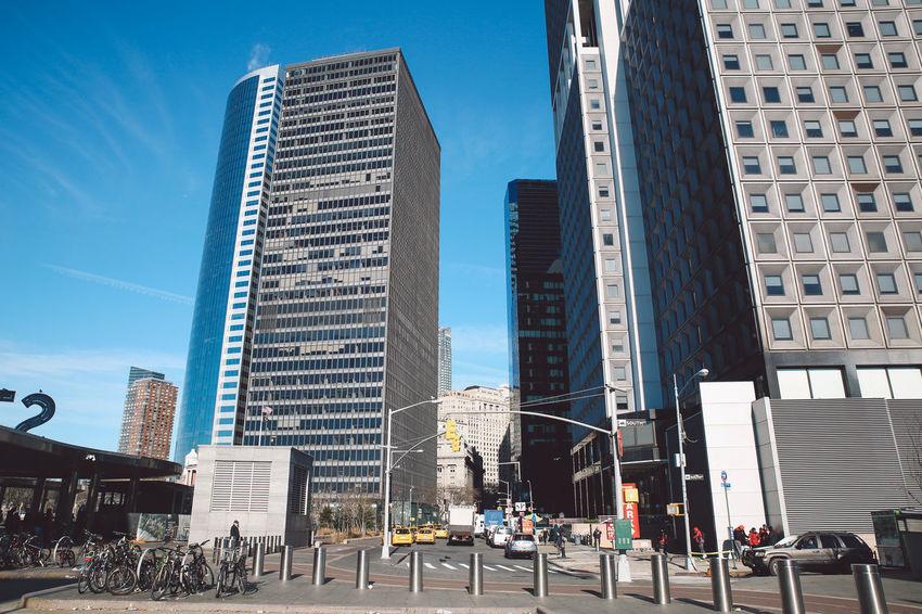 Architecture City Cityscape Downtown Manhattan New York New York City Skyscrapers Winter