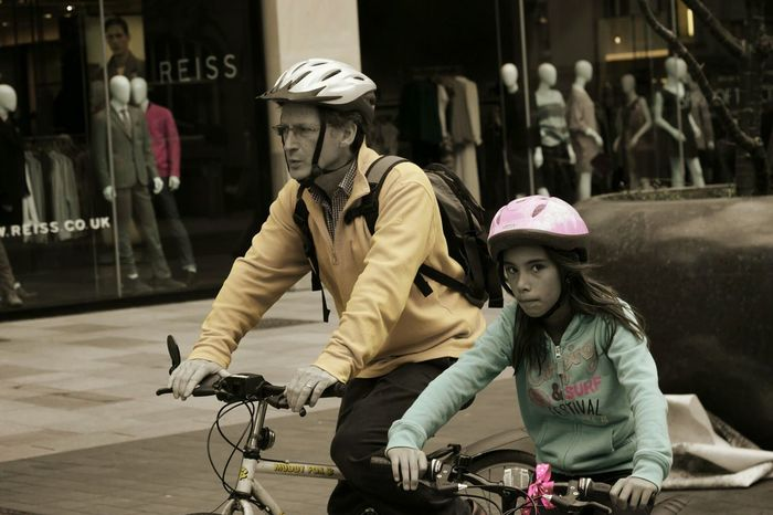 Family bike ride 👪 🚲 The Street Photographer - 2016 EyeEm Awards Cardiff City Centre Cardiff Wales Uk Street Photography Bike Ride Family Love ♥ Hanging Out Feel The Journey