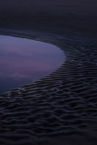 Transition Water Sea No People Scenics - Nature Nature Beauty In Nature Sky Tranquility Rippled Sunset Tranquil Scene Idyllic Outdoors Beach Purple