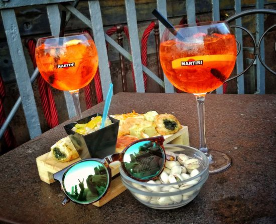 Aperitivo  Food And Drink Drinking Glass Refreshment Day Drink Aperol Spritz Mura Lucca Tuscany Italy Food Alcohol Summertime EyeEm Masterclass Shootermagazine Good Life Good Vibes Thanks God It's Friday Relaxing Time Shotoftheday EyeEm Best Shots