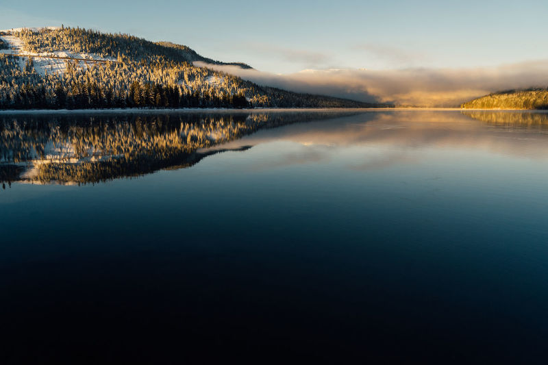 Winter sunrise at Donner Lake, California. California Landscape_Collection Truckee  Beauty In Nature Day Lake Landscape Mountain Nature No People Outdoors Reflection Scenics Ski Sky Sunrise Sunset Tranquil Scene Tranquility Tree Water Waterfront Winter