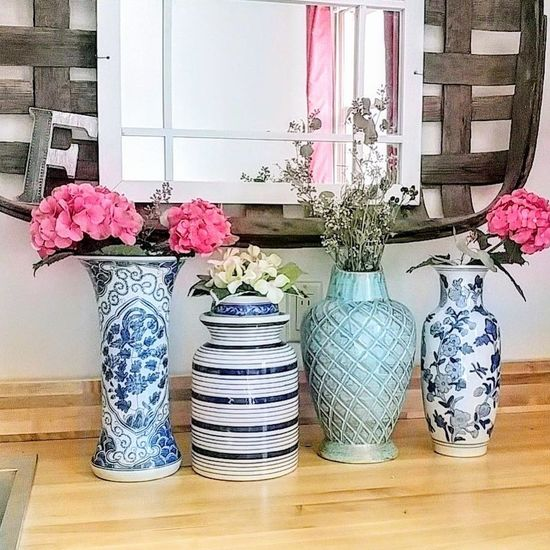 Indoors  Flower Countertop Hydrangeas Mirror Window EyeEmNewHere vases vase blue