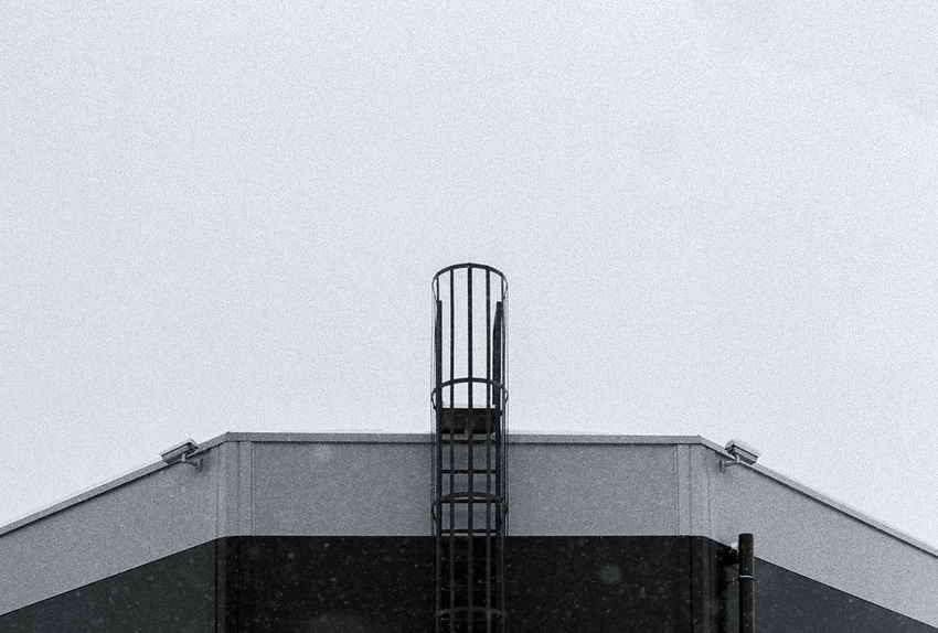 Analogue Photography Film Architecture Building Building Exterior Built Structure City Clear Sky Copy Space Day Film Photography High Section Ilford Ilford Pan F50 Industry Low Angle View Metal Modern Nature No People Outdoors Sky Wall Wall - Building Feature Window